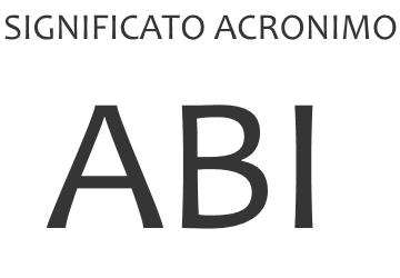 Significato acronimo ABI