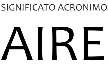Significato acronimo AIRE