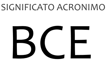 Significato acronimo BCE