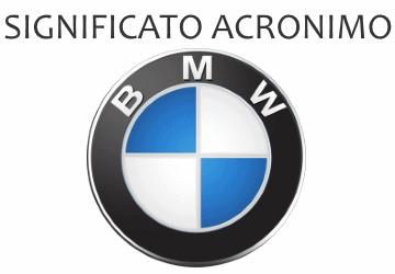 Significato acronimo BMW