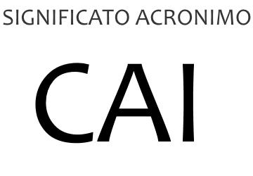 Significato acronimo CAI