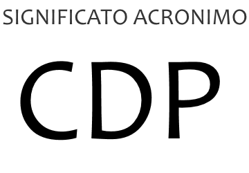 Significato acronimo CDP