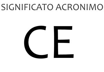 Significato acronimo CE