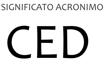 Significato acronimo CED