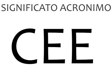 Significato acronimo CEE
