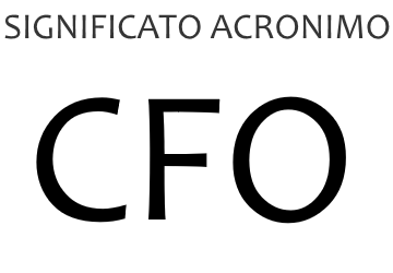 Significato acronimo CFO