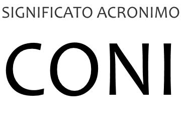 Significato acronimo CONI