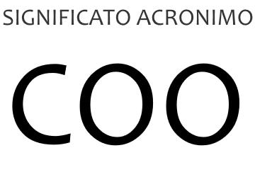 Significato acronimo COO