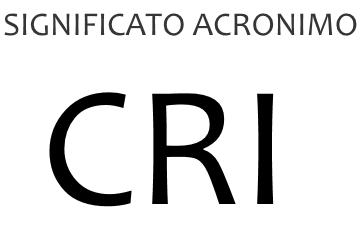 Significato acronimo CRI