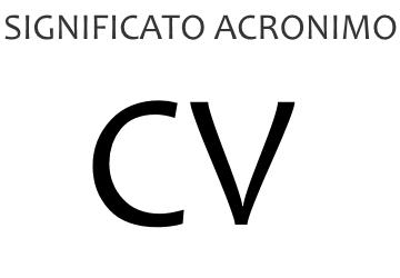 Significato acronimo CV