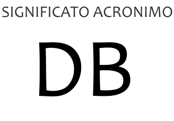 Significato acronimo DB