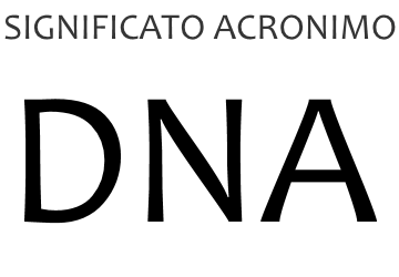 Significato acronimo DNA