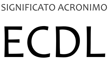 Significato acronimo ECDL