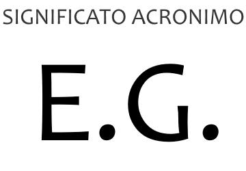 Significato acronimo EG