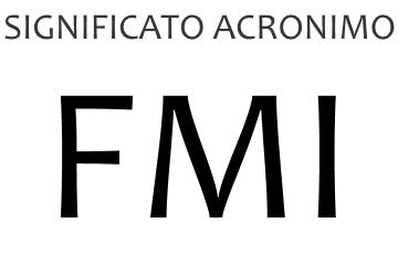 Significato acronimo FMI