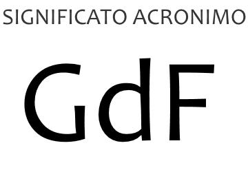Significato acronimo GDF