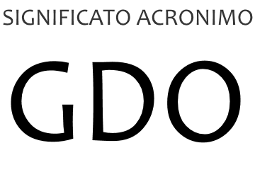 Significato acronimo GDO