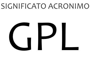 Significato acronimo GPL