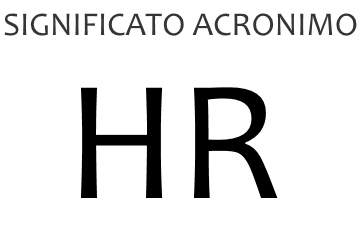 Significato acronimo HR