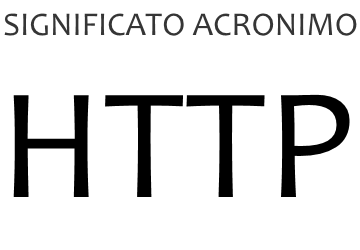 Significato acronimo HTTP