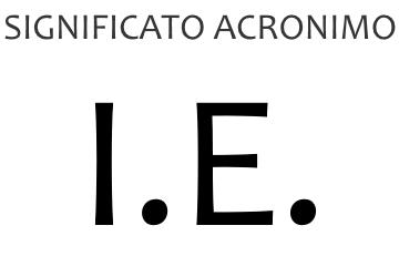 Significato acronimo IE