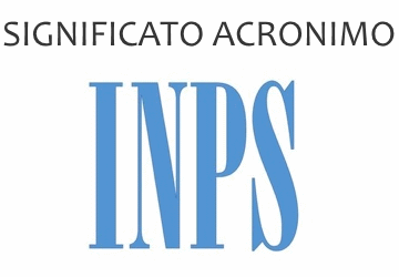 Significato acronimo INPS