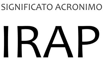 Significato acronimo IRAP