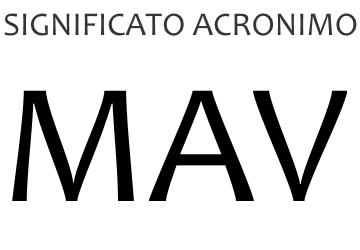 Significato acronimo MAV