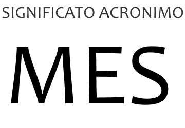 Significato acronimo MES