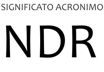 Significato acronimo NDR