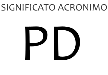 Significato acronimo PD