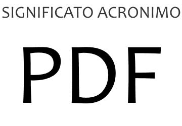 Significato acronimo PDF