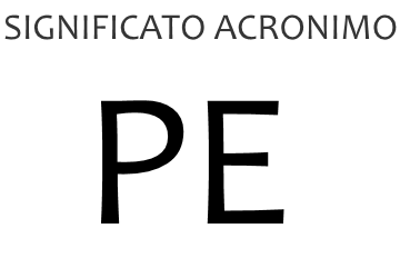 Significato acronimo PE