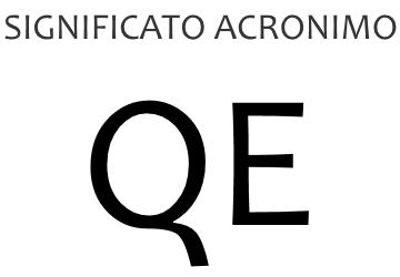 Significato acronimo QE