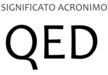 Significato acronimo QED