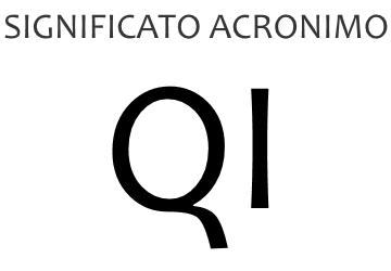 Significato acronimo QI