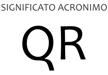 Significato acronimo QR