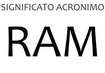 Significato acronimo RAM