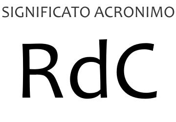 Significato acronimo RDC