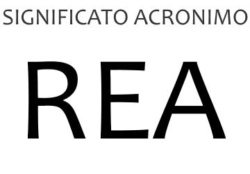 Significato acronimo REA