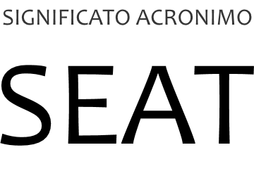 Significato acronimo SEAT