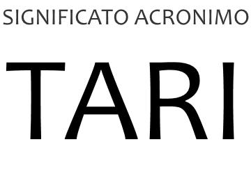 Significato acronimo TARI