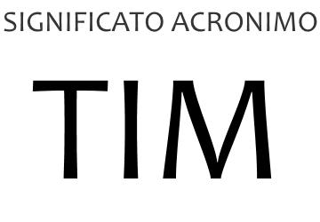 Significato acronimo TIM