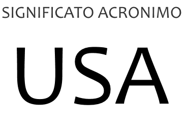 Significato acronimo USA