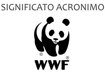 Significato acronimo WWF