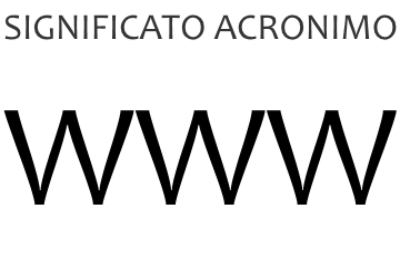 Significato acronimo WWW