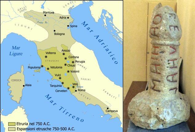 Cartina Dell Italia Al Tempo Degli Etruschi.Nomi Etruschi Nomi Di Origine Etrusca