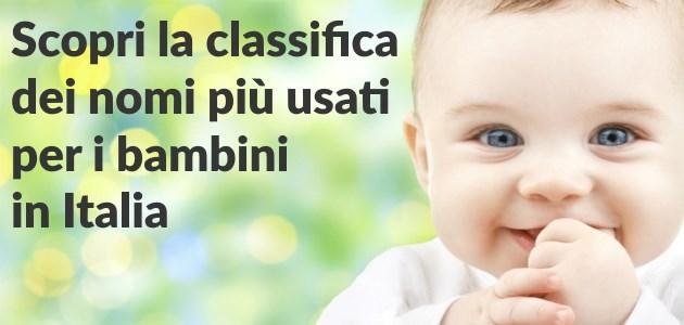 f3cac88aa2 Quali sono i nomi per bambini più usati in Italia? Scoprilo con le  classifiche dei nomi