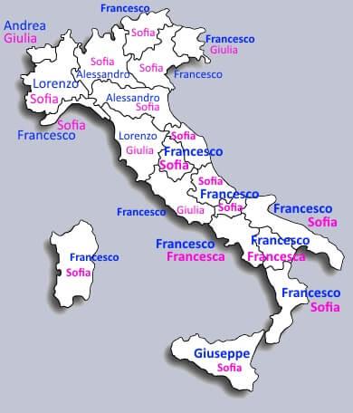 Classifica istat nomi per bambini 2014 for Nomi dei politici italiani