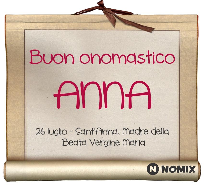 Giovanna D Anna Calendario.Onomastico Del Nome Anna